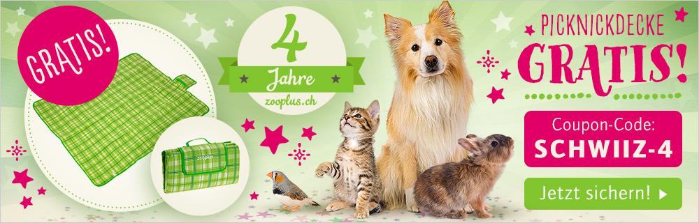 Ihr Geschenk zum 4. zooplus.ch Geburtstag