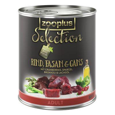 zooplus Selection Adult bœuf, faisan, oie pour chien