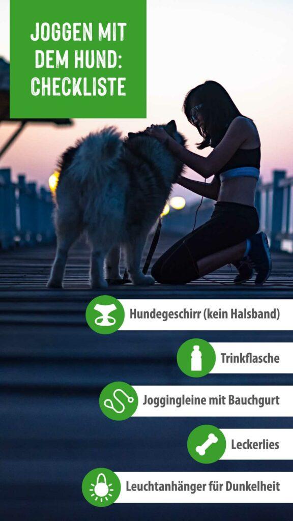 Checkliste Jogging mit Hund